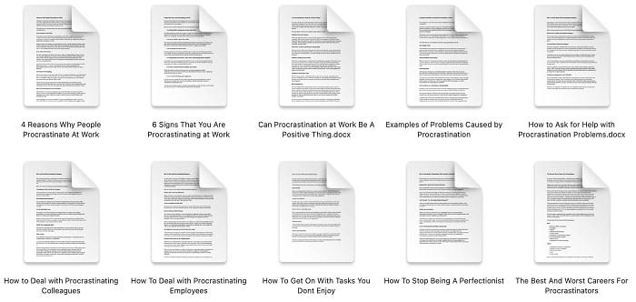 procrastination-plr-articles