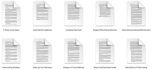 Clean-eating-plr-articles