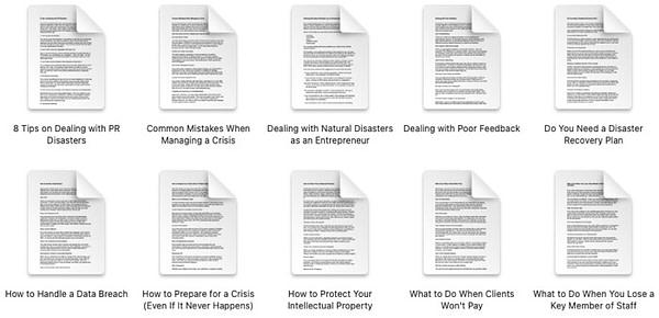 crisis-management-plr-articles