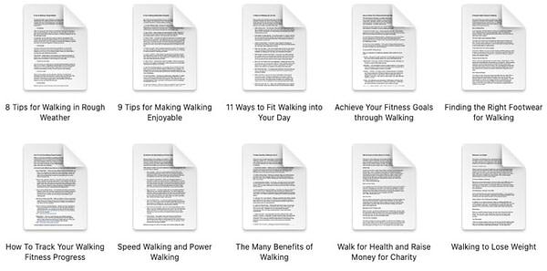 fitness-walking-plr-blog-articles