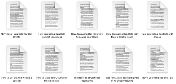 Journaling-plr-articles