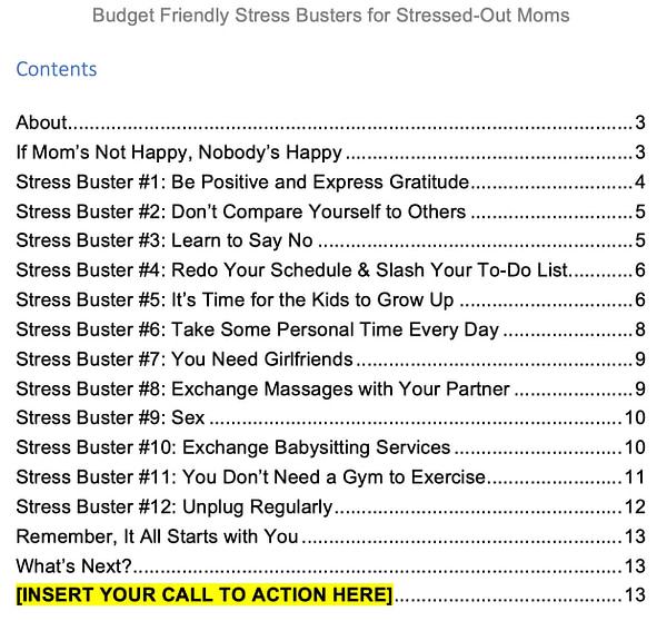 Stress-PLR-Report-2-contents