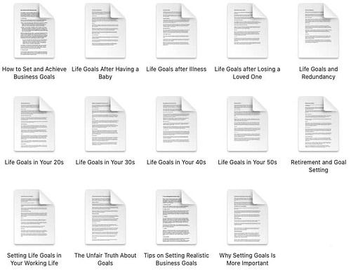 goal-setting-plr-articles