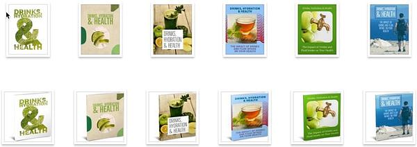 health-drinks-hydration-plr-ebook-covers