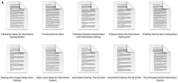 intermittent-fasting-plr-articles