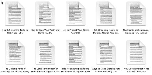 healthy habits 20s-plr-articles