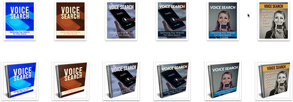optimizing-voice-search-plr-ebook-covers