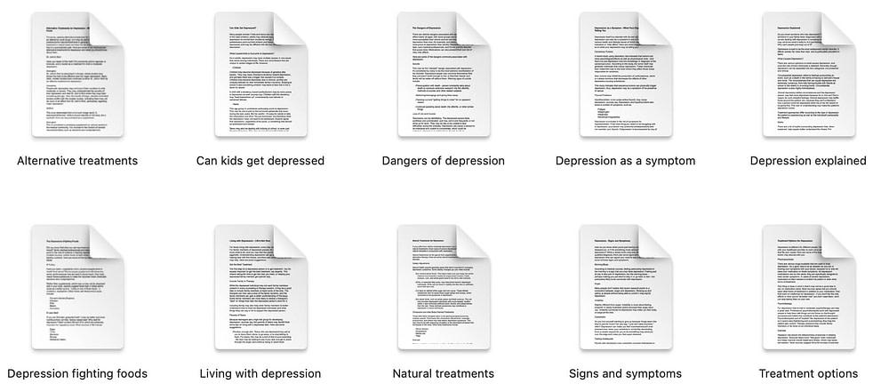 Depression-plr-articles