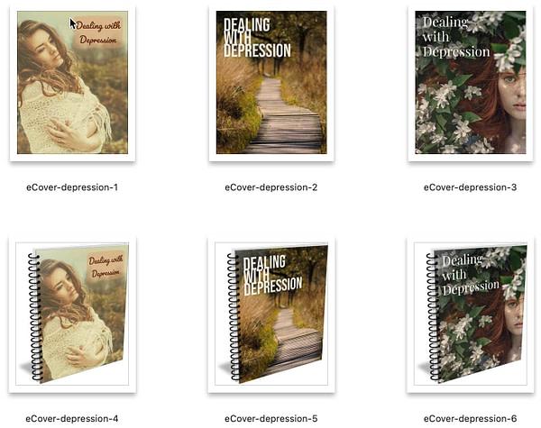 Depression-plr-ebook-ecovers-graphics
