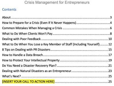 crisis-management-plr-report-contents