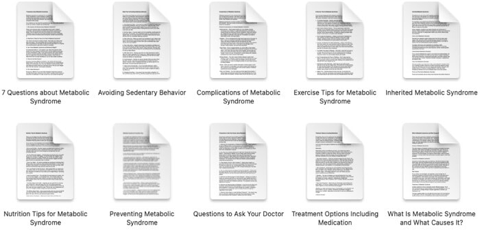 metabolic-syndrome-plr-articles