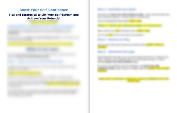 Self Confidence PLR thank you page