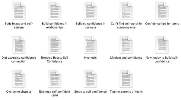 Self-Confidence-PLR-Articles